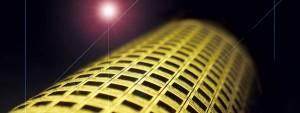Dispositivo e-piel con circuitería de nanocables. Cada cuadrado oscuro representa un píxel.