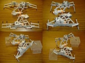 """Robot simple que evoluciona su cuerpo y """"cerebro"""" (o controlador) juntos."""