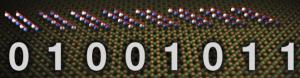Un byte (letra o número) está representado por 8 bits (Fuente: IBM Research)