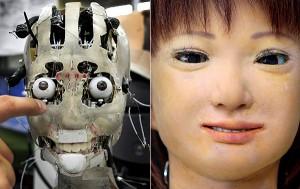 El robot Saya (Crédito: Hiroshi Kobayashi/Universidad de Ciencia en Tokio)