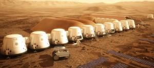 Colonia humana en Marte en 2025 (Crédito: Mars One)
