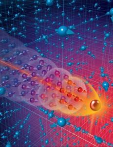 Los electrones moviéndose en ciertos sólidos pueden comportarse como si tuvieran miles de veces más masa que  los electrones libres, pero al mismo tiempo actúan como superconductores. Eso se da debido al proceso conocido como entrelazamiento cuántico que determina la masa de electrones moviéndose en un cristal.