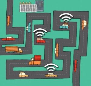 Red de automóviles WiFi (Crédito: Christine Daniloff/MIT)