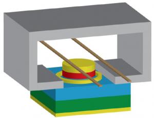 Transistor de spin magnetoresistivo (Crédito: Joseph S. Friedman et al.)