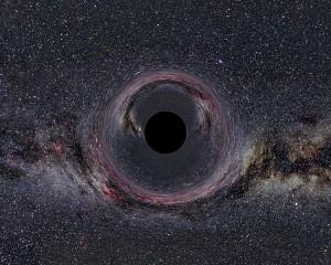 Recreación artística de un agujero negro (Crédito: Ute Kraus/Wikimedia Commons)