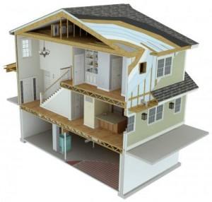 Modelo de la casa laboratorio, residencia de cero consumo neto de energía (crédito: NIST)