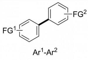 Biarilos útiles sintéticamente (crédito: Liam T. Ball, Guy C. Lloyd-Jones, Christopher A. Russell/Science)