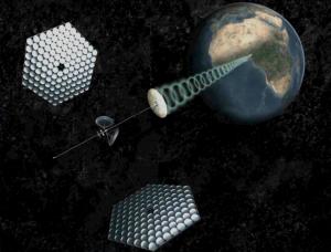 Satélite de energía solar  (crédito: SpaceWorks Engineering, Inc./Spaceworks Commercial)