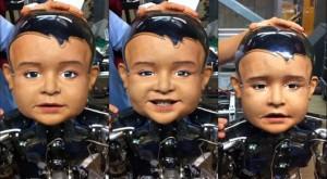 Diego-san muestra sus distintas expresiones faciales y utiliza 27 partes movibles sólo en su cabeza. (crédito: UCSD)