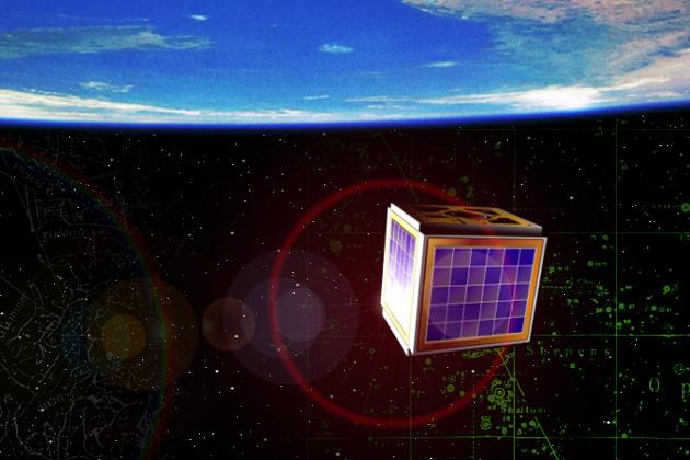 Concepto artístico del CubeSat construido por estudiantes de Aalborg University, en Dinamarca. (crédito: Aalborg University)