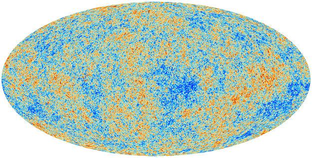 Radiación cósmica de fondo vista desde el telescopio espacial Planck. (Crédito: ESA)