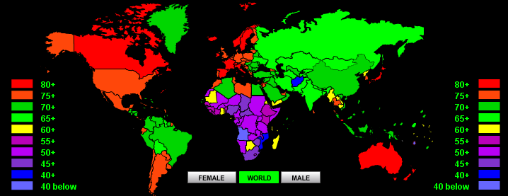 (Crédito: World Life Expectancy)