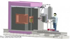 El proyecto de investigación Majorana Demostrator se está actualmente ensamblando a 4850 pies debajo de la superficie terrestre en cobre enriquecido para limitar la cantidad de interferencia de fondo ocasionada por rayos cósmicos e isótopos radioactivos. (Crédito: Oak Ridge National Laboratory)