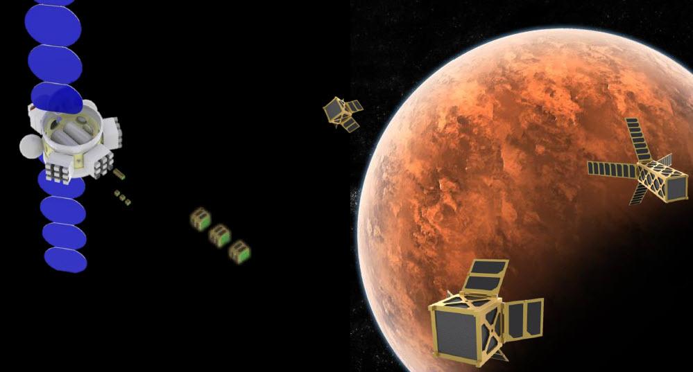 Cubesats en Marte