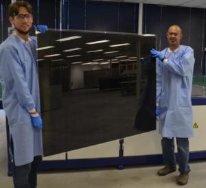 Módulo solar fotovoltaico de teluro de cadmio (crédito: RSI)