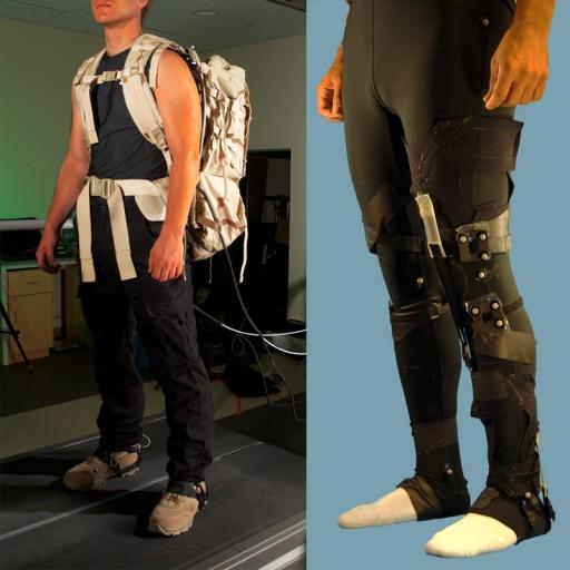 El programa Warrior Web de DARPA busca crear trajes interiores suaves y livianos que ayuden a reducir lesiones y fatiga, y ayude a incrementar la resistencia de los soldados en las misiciones. Las fotos que se muestran aquí son ejemplos de tres prototipos actualmente en desarrollo. (Crédito: DARPA)