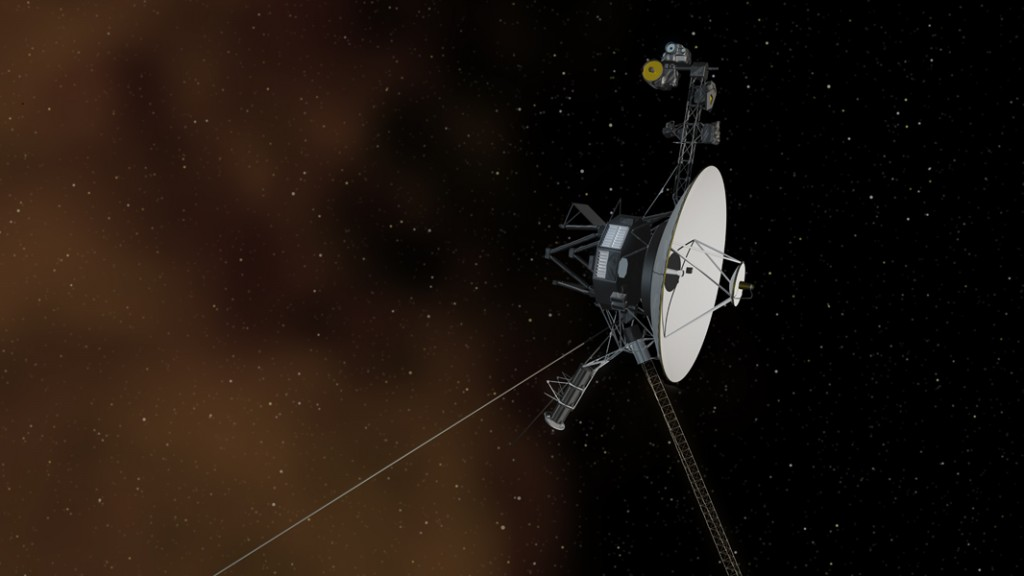 El concepto artístico representa a la nave Voyager 1 entrando al espacio interestelar  (crédito: NASA/JPL-Caltech)