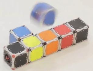 Microbots autoensamblables. (crédito: MIT)