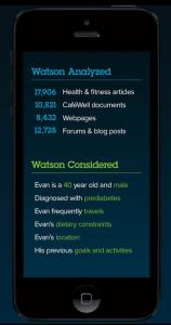 Una aplicación hipotética médica para iPhone utilizando Watson. (crédito: IBM)