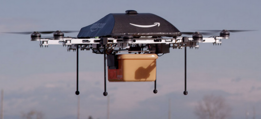 Prueba de vuelo del Amazon Prime Air (Crédito: Amazon)
