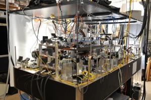 Trampa de átomos utilizada para observa la física que describe en este artículo. (Crédito: Washington State University)
